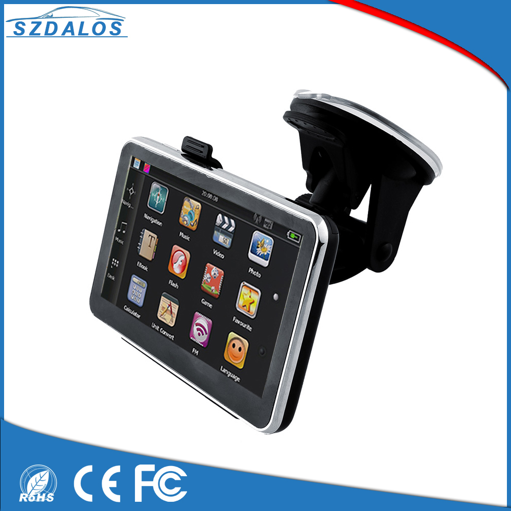 "Hot sale 4.3"" TFT LCD display smart gps car navigation system with TMC function"