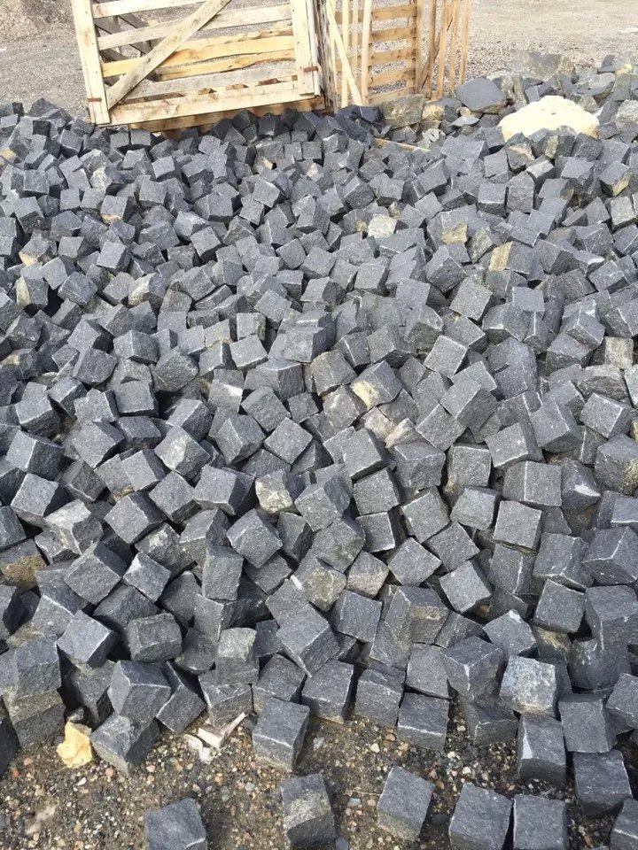 Te negro basalto g684 granito ladrillos baldosas de for Piedra granito negro