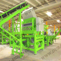 Dura shred energy saving and tire pyrolysis recycling machine for waste tire