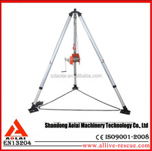 Hand Operated Safety Tripod Falling Prevention Lifeline Vessel Cabin Rescue Tripod
