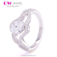 Wedding Diamond Cleaning Silver S925 Imitation Ring