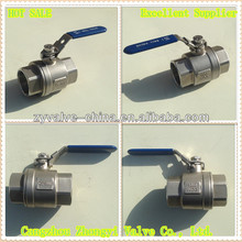 1000PSI 2PC stainless steel extended stem ball valve