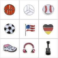 Fashion Jewelry Custom Footbal Floating Locket Charms for Glass Memory Lockets