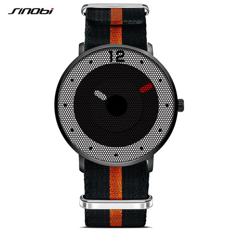 9633 <strong>G</strong> SINOBI Fashion Creative Men Waterproof Nylon Strap Sport <strong>Watches</strong> Top Luxury Brand Male Quartz <strong>Watch</strong>