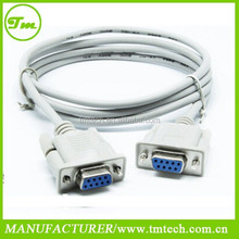 10 pies db9 9 pin <span class=keywords><strong>puerto</strong></span> serial <span class=keywords><strong>cable</strong></span> mujer/rs232 mujer <span class=keywords><strong>cable</strong></span>