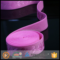 Good quality 1.25 inch jacquard elastic webbing for bra strap used