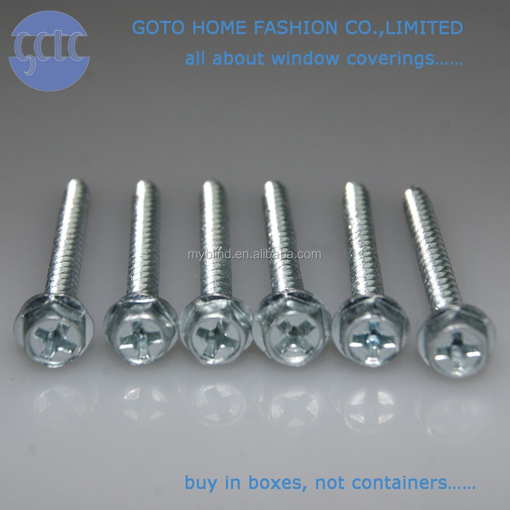 Hex Washer Head Wholesale TF- ZINC plated installation drlling screw for home decor