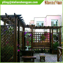 Chinese Modern Large Garden Outdoor Wooden Pergola Gazebo