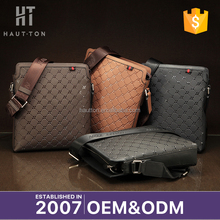 Hot Sale Fashion Vintage Man Business Briefcases New Model Genuine Top Cow Leather Messenger Bags For Men