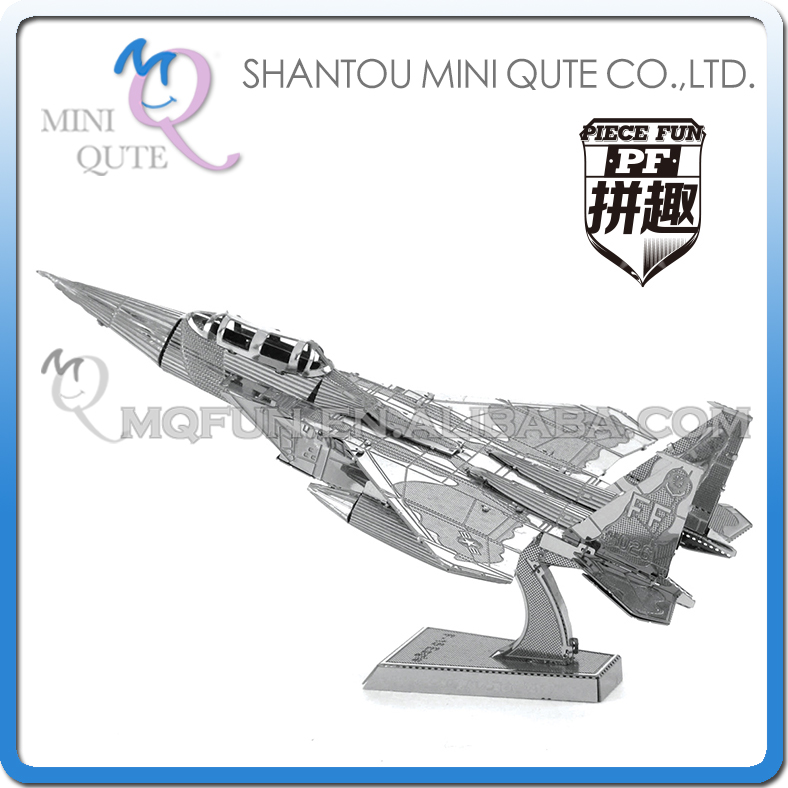 Piece Fun 3D Metal Puzzle military F-15 Eagle helicopter Adult assemble DIY model educational toys NO GLUE NEEDED NO.PF 9107