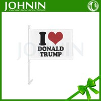 Plastic pole attached trump for president car window flag