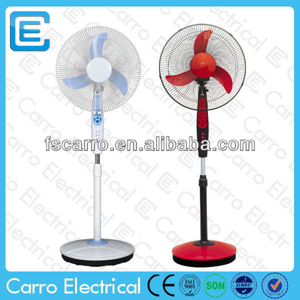 "good quality 12V 16"" solar fan solar dc antique standing fans"