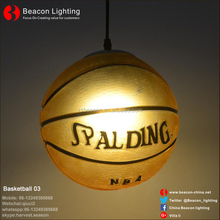 factory Direct Manufacturer Hot sale sell 25 cm glass Basketball lights pendant lamp for bar pub saloon children's bedroom light