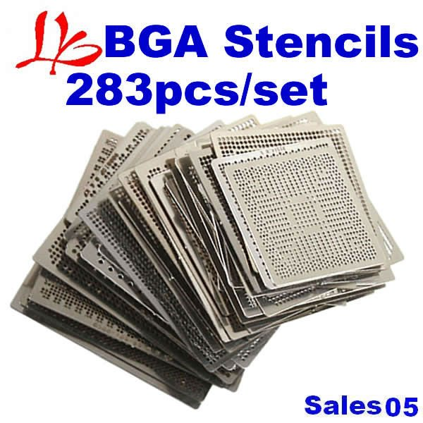 New year coming wholesales BGA reballing kit directly heating stencils 283pcs, new kit, BGA Stencils 283pcs/set