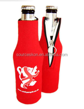 Neoprene Insulated Water Bottle Cool Bag Zip Up Ice Wine Cooler Picnic Drinks