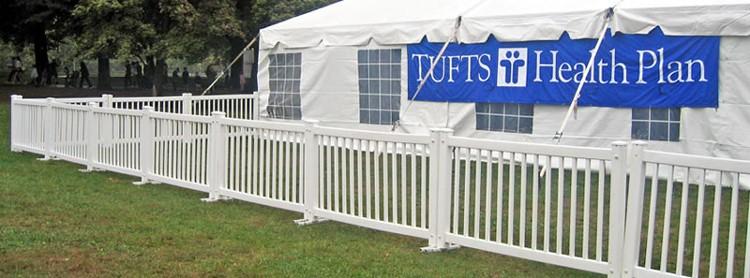 Portable Patio Fence : High quality white plastic pvc removable garden fence