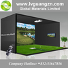 GREENLY INDOOR GOLF SIMULATOR IR 3D SCREEN Golf Layout Graphic Design