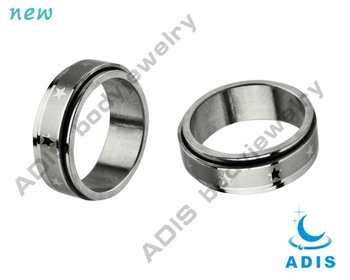 Star Pattern 316L Surgical Steel Finger Ring