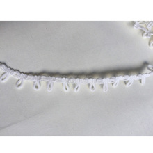 Factory 1.5 CM snow white elastic button loop /hole tape for Garment