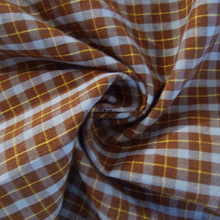 2015 english heavy weight yarn dyed flannel 100% cotton twill check shirt fabric cheap