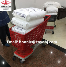 New PP Material Supermarket Small Plastic Basket Trolley Wholesale