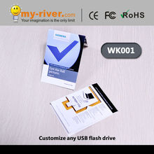 Recycled paper usb flash drive with webkey funtion with four sides customized priting for promotion