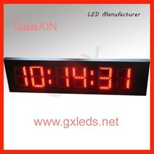 8inch big red high brightness steel frame waterproof outdoor led clock