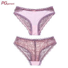 factory wholesale female undies see through sexy mesh lace panties women underwear plus size panties for women