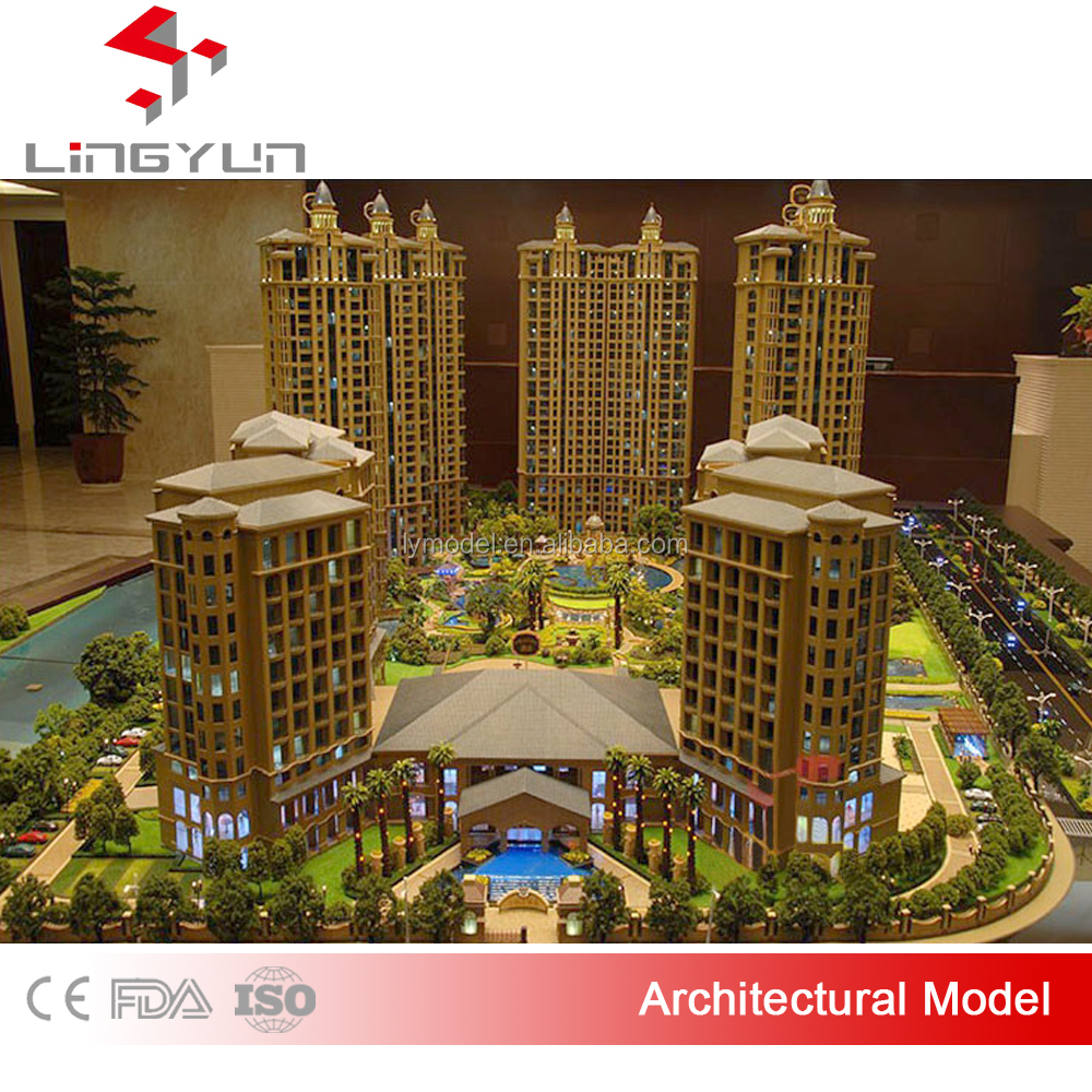 3D drawing architectural scale model with perfect lighting effect