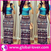 2016 new design ladies casual maxi dress two piece long dress
