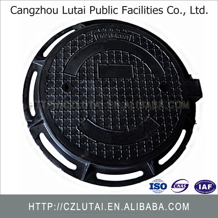 High Quality Durable Competitive Hot Product Bs En124 D400 Black Bitumen Coated Iron Casting Manhole Cover