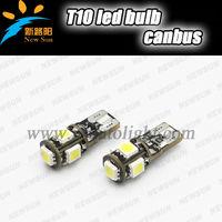High quality Car Auto Lamp Bulb 194 168 w5w LED T10 5050 5SMD Read light,luggage light,license light,door light,storge box li