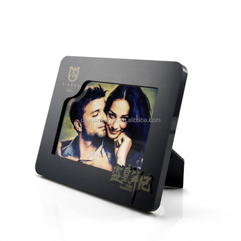 New Style Acrylic Photofunia/photo Frame Black Acrylic Picture Frame