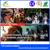 Latest technology 5D theater/5D cinema theme park equipment for sale in China