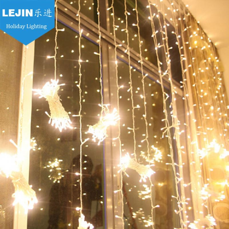 waterproof led light manufacture safety fiber curtain light for outdoor wedding