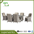 Latest designed Aluminium Garden Sofa Set Garden Furniture with aluminium slat top table