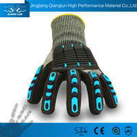 QLSAFETY HPPE Nantong rubber coated hand gloves