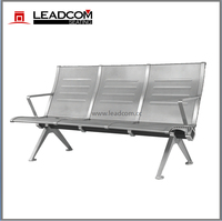 Leadcom 3-seat airport steel bench (LS-530L)