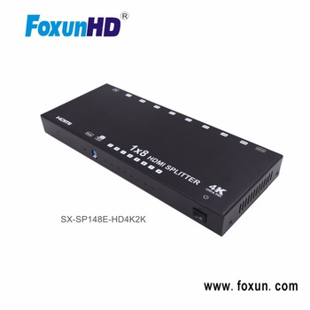 SX-SP148E-HD4K2K 4K2K HDMI Splitter1 in 8 out Support EDID and HDCP 1.4