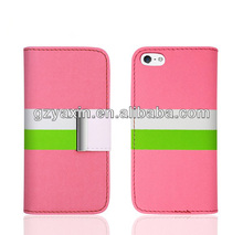 High Quality New Product Hot Selling Wallet Leather Case for iPhone 5