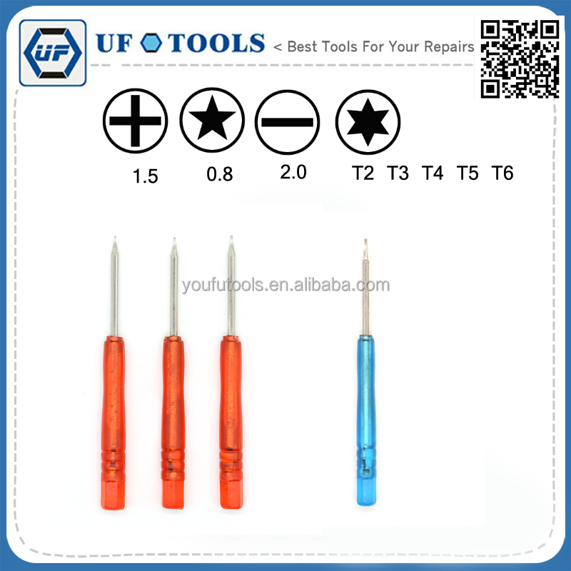 New Screwdriver Pentalobe 0.8 Star 1.2 1.5 Slot Slotted 1.0 1.2 1.5 2.0 Cross 1.0 1.2 1.5 2.0 Torx T2 T3 T4 T5 T6 T7 Repair tool