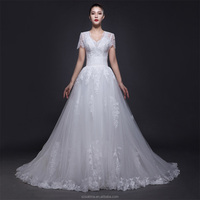 alibaba 2017 hot sell of top quality lace chinese factor wedding dress for women