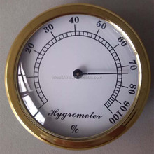 Gold color bimetal hygrometer