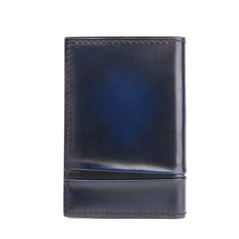 TERSE 100% Venezia Calfskin wallet for men handmade wallet custom Flat fold Card holder & case factory to customers