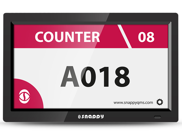 10 inch android counter display for Snappy queue management system  queue status LCD screen