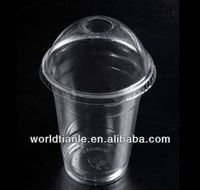 plastic bubble tea cup with dome lids