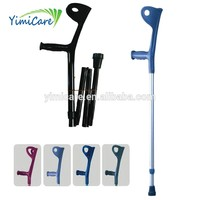 dependent collapsible acrylic elbow crutch for rubber crutch
