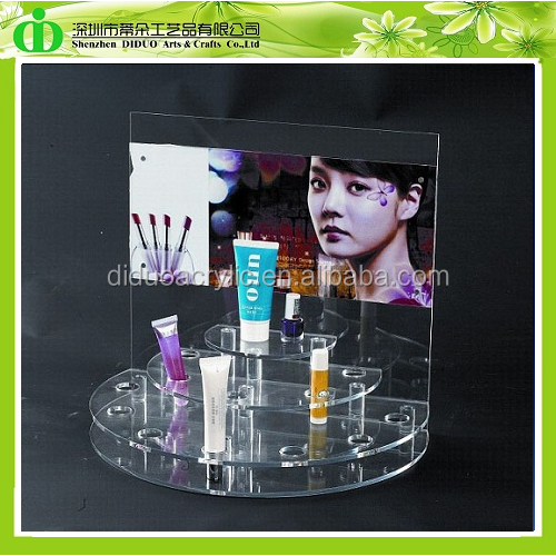 DDN-0017 ISO9001 Chinese Manufacture Sells SGS Non-toxic Test Elegant Cosmetic Display Stand for Revlon