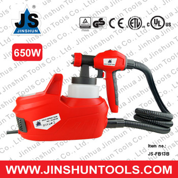 "JS Airless Electric HVLP 1 Liter Air Spray Gun 65"" Hose 650W JS-FB13B"