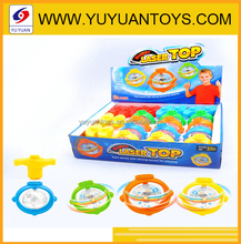 Llamativo intermitente spinning top toy con musica